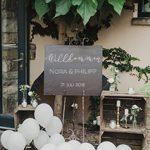 Willkommenschild zu eurer Hochzeit