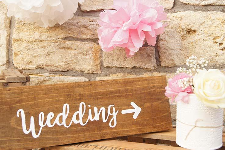 Personalisierte Accesorries für eure Hochzeit